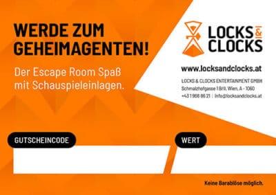 Locks & Clocks Gutscheinkarte